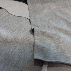 Стрейч-футер серый меланж (слева) и стрейч-кулир серый меланж (справа)